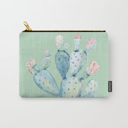Rose Desert Cactus Light Mint Green by Nature Magick Carry-All Pouch