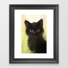 Savage Cat Framed Art Print