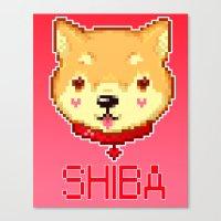 shiba Canvas Prints featuring Shiba  by SCAD Illustration Club