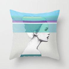 Cold Portrait Throw Pillow