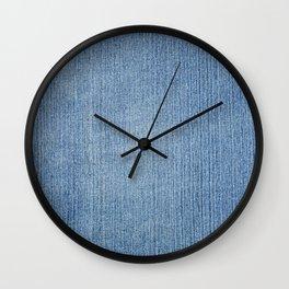 Faded Blue Denim Wall Clock