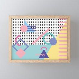 Memphis Pattern 5 - 80s - 90s - Retro Framed Mini Art Print