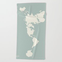 Dymaxion Map of the World Beach Towel
