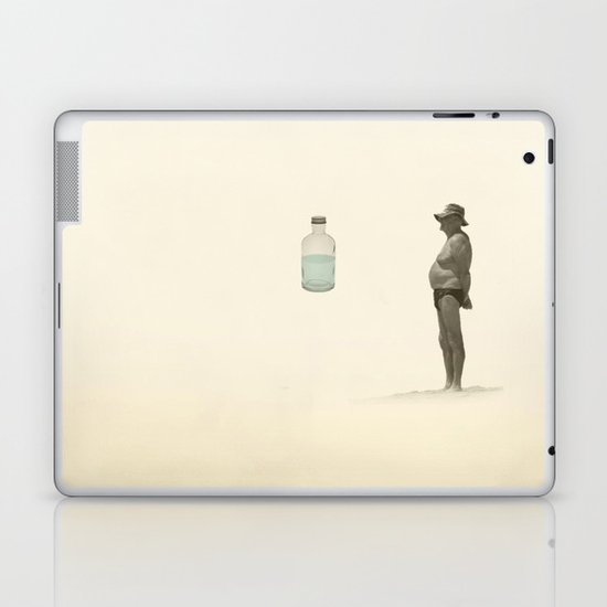beach and a bottle Laptop & iPad Skin