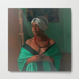 African American Masterpiece 'Portrait of the African Woman Aicha Goblet' by Felix Vallotton Metal Print