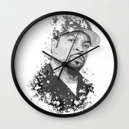 Ice Cube splatter painting Wall Clock