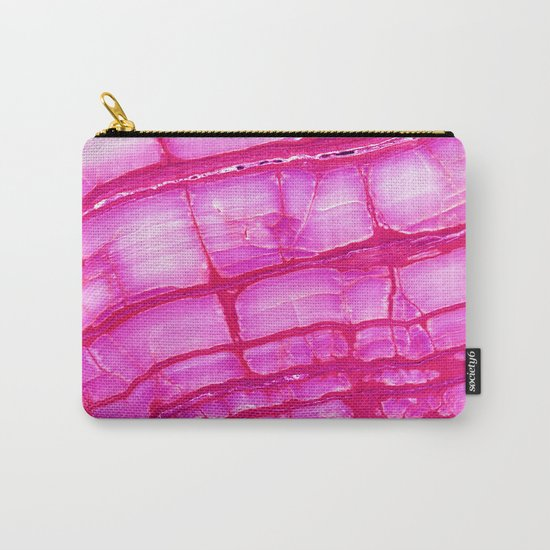 Pink onyx marble Carry-All Pouch