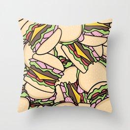 Burgers! Throw Pillow