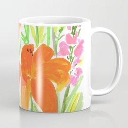 Orange Summer Lilies and Pink Flowers / Wildflowers / Summer Fields of Flowers Coffee Mug