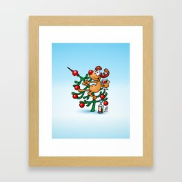 Rudolph the Red Nosed Reindeer Framed Art Print