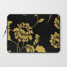 Victorian Floral (Black & Gold) Laptop Sleeve