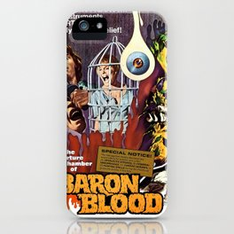 Baron Blood, vintage horror movie poster iPhone Case