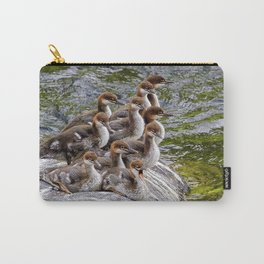 10 Little Mergansers on a Rock Carry-All Pouch