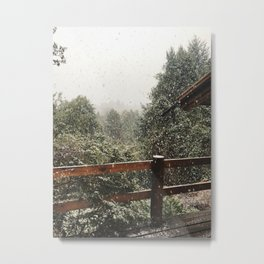 Postcard in the Snow | Bariloche, Argentina | Travel Photography Metal Print