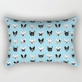 Cute Frenchies Doggie Family Collage Rectangular Pillow