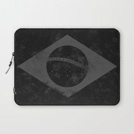 Black Brazil Flag Laptop Sleeve