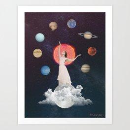 Goddess of the universe Art Print
