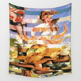 Glitch Pin-Up Redux: Xena Wall Tapestry
