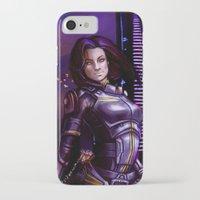 nan lawson iPhone & iPod Cases featuring Mass Effect - Miranda Lawson by Amber Hague