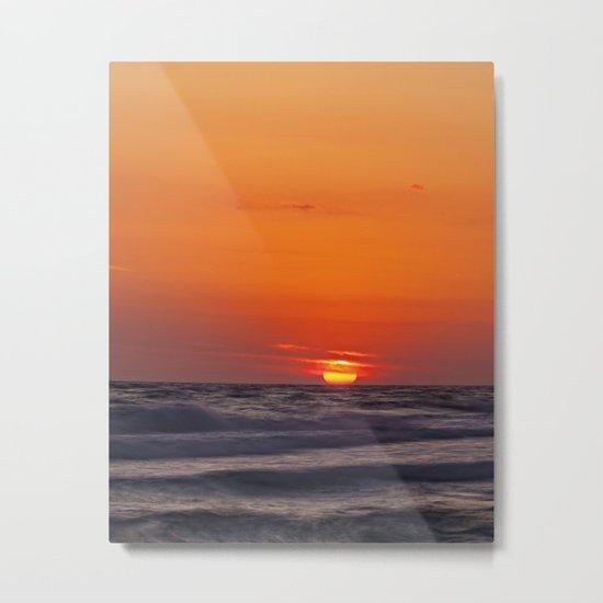 orange evening Metal Print