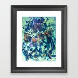 Sunflower and Thistle Framed Art Print