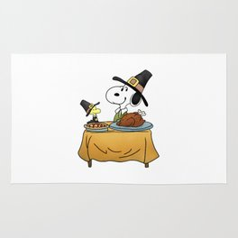 Snoopy Thanksgiving Rug