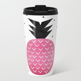 Pink Pineapple Metal Travel Mug