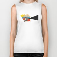 cinema Biker Tanks featuring Cinema by Francisca Pageo
