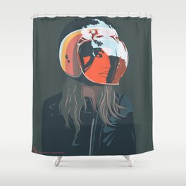 orange (from a photo by Sebastien Zanella) Shower Curtain