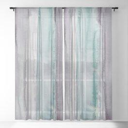 23    190907   Watercolor Abstract Painting Sheer Curtain