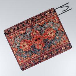 Kashan Poshti Central Persian Rug Print Picnic Blanket