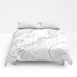 Mountains Topographic map Comforters