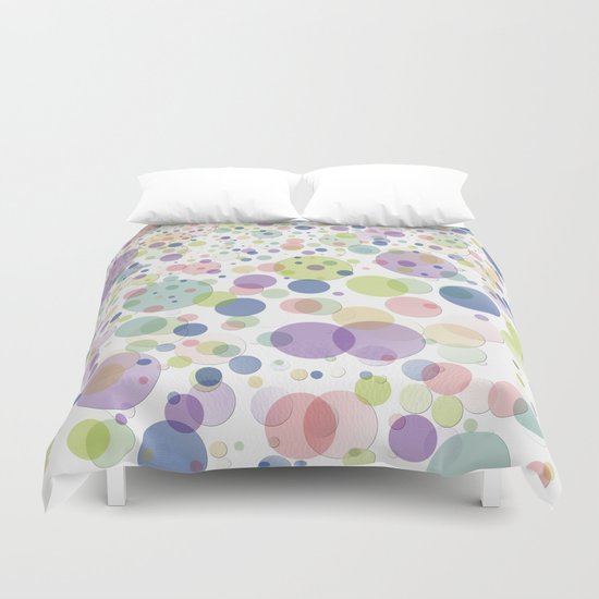 Pattern dots springcolors Duvet Cover