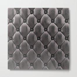 Black upholstery pattern Metal Print