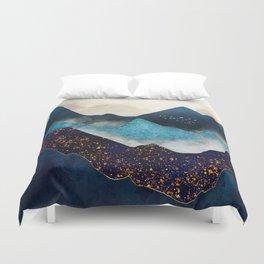 Indigo Peaks Duvet Cover