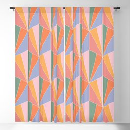 Gisela Color Block Pattern I Blackout Curtain