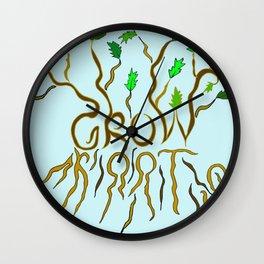 Grow Roots Wall Clock