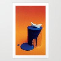 imagination floating Art Print