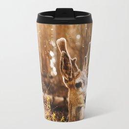 a deer at the yosemite national parl Travel Mug