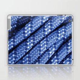 climbing rope texture blue  Laptop & iPad Skin