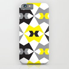 Yellow, gray & black geometric pattern Slim Case iPhone 6s