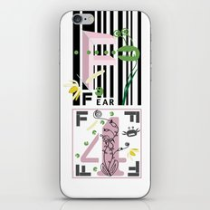 Four Freedoms Barcode Black iPhone & iPod Skin