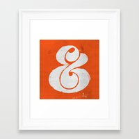ampersand Framed Art Prints featuring Ampersand by Andrei Robu