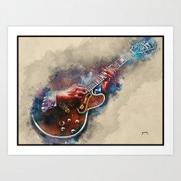 BB King's electric guitar, guitar wall art, studio decor, music room decor, gift for guitarist Art Print
