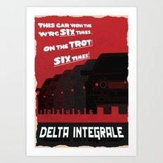 Delta Integrale Art Print