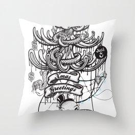 Xmas Greeting Throw Pillow