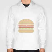 hamburger Hoodies featuring  #62 Hamburger by MNML Thing