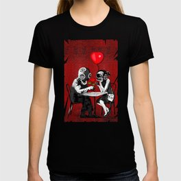 Banksy the Steampunk couple T-shirt