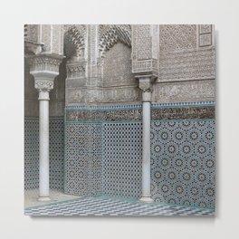 Marocco Columns Mosaic Metal Print