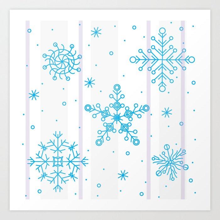 Let it snow! Art Print